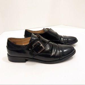 Nine West Black Oxford Buckle Shoes 7